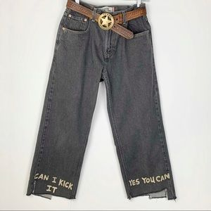 Levi's Jeans - One of Kind Upcycled Black Levi Jeans CUSTOM
